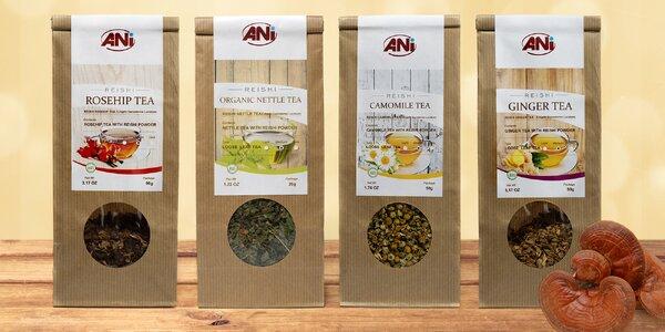 Prvotřídní čaje z celého světa s houbou Reishi