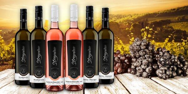 6 moravských vín z rodinného vinařství Strapina v Pavlově