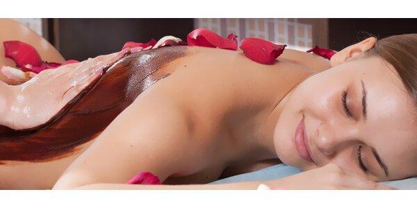 90minutová čokoládová masáž a se zábalem