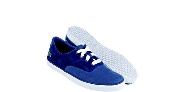 Dámské modré semišové tenisky Lacoste
