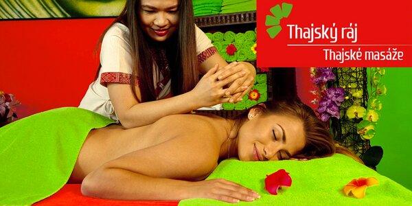 120–150 minut báječného relaxu v Thajském ráji