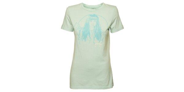 Dámské bledě modré tričko Fundango s potiskem