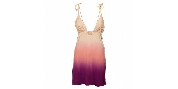 Dámské růžovo-fialové šaty Fundango s barevnými přechody