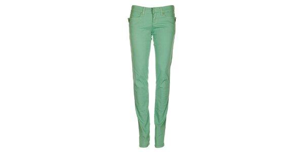 Dámské mátově zelené skinny džíny Fundango