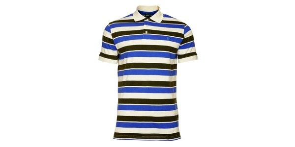 Pánské černo-modré pruhované tričko Fundango
