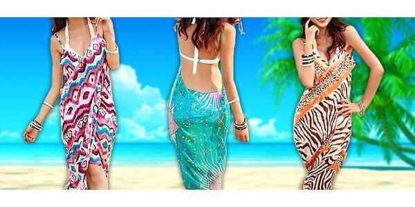 Zavinovací plážové šaty - hit léta 2013