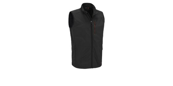 Pánská černá softshellová vesta Maier s membránou