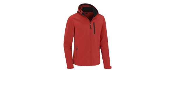 Pánská červená softshellová bunda Maier s kapucí