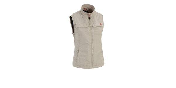 Dámská béžová outdoorová vesta Maier