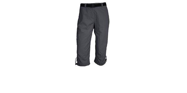 Dámské tmavě šedé 3/4 funkční kalhoty Maier