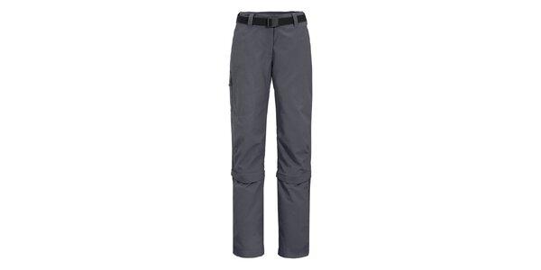 Dámské tmavě šedé funkční kalhoty Maier s odepínatelnými nohavicemi
