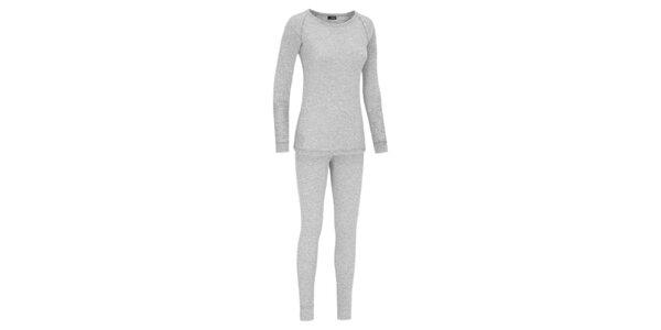 Set dámského funkčního prádla Maier ve světle šedé barvě