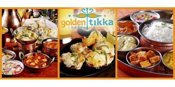 299 Kč za cokoli v hodnotě 600 Kč z jídelního lístků indické restaurace!