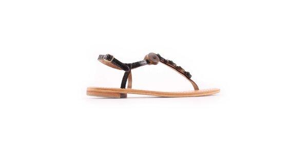 Dámské černo-hnědé sandálky Les Tropeziennes