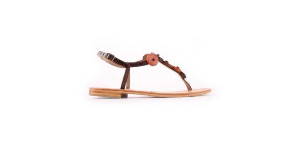 Dámské hnědo-oranžové sandálky Les Tropeziennes