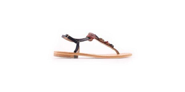 Dámské modro-červené sandálky Les Tropeziennes