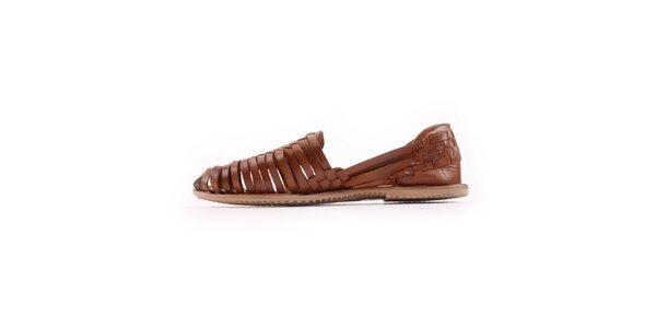 Dámské hnědé páskové boty Les Tropeziennes
