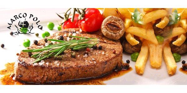 Dva poctivé hovězí steaky s přílohou