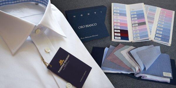 Luxusní krejčovská práce: Košile šitá na míru