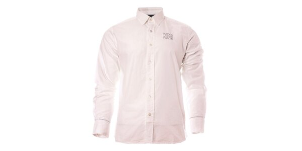 Pánská bílá košile s dlouhým rukávem a logem TBS