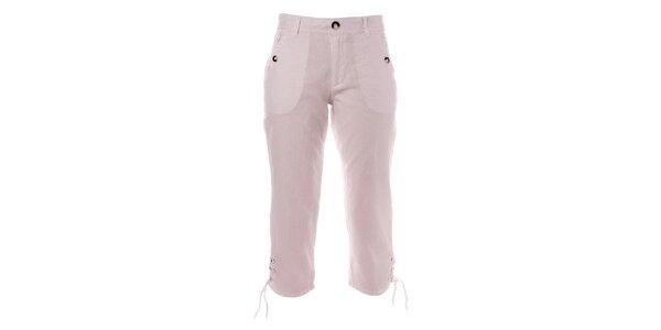 Dámské bílé capri kalhoty s knoflíky TBS