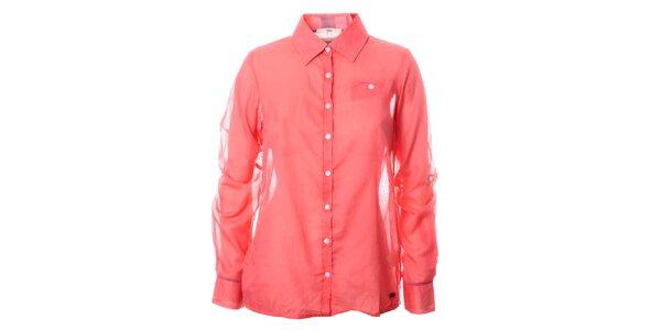 Dámská jahodová lehká košile TBS