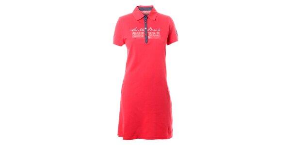 Dámské malinově červené košilové šaty TBS
