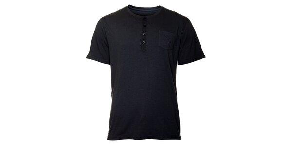 Pánské modročerné tričko TBS
