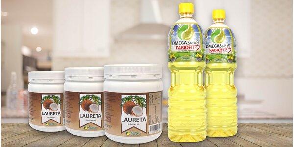 Kokosový olej Laureta a směs olejů FABIOFIT