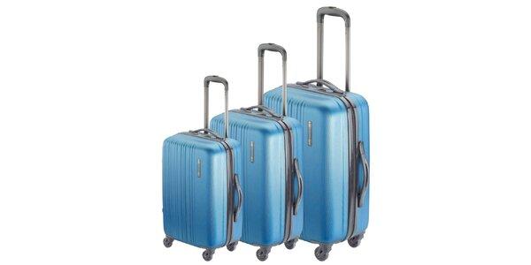 Set tří modrých kufrů na kolečkách Valisa