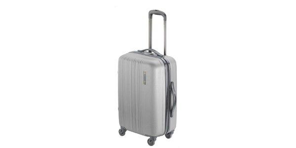 Šedý pevný kufr na kolečkách Valisa