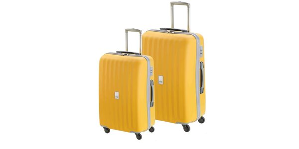 Set dvou žlutých kufrů na kolečkách Valisa