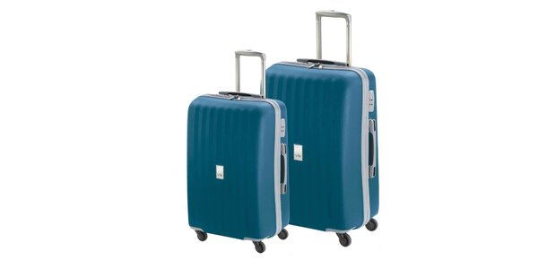 Set dvou modrých kufrů na kolečkách Valisa