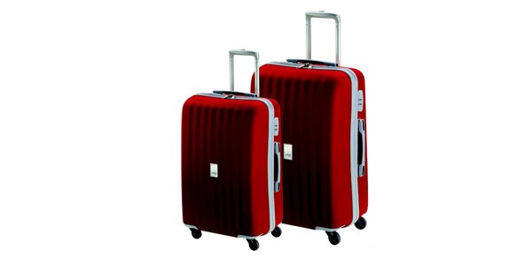 Set dvou červených kufrů na kolečkách Valisa