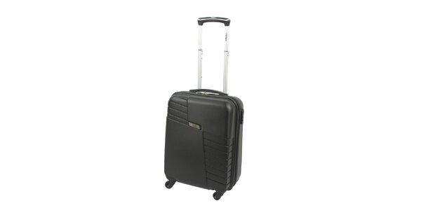 Černý pevný kufr na kolečkách Valisa