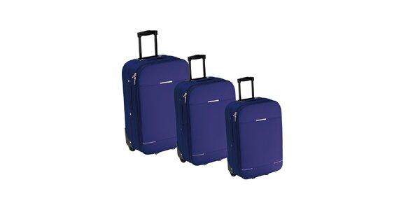 Tmavě modrý kufr na kolečkách Valisa