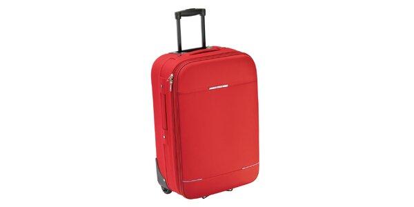 Červený kufr na kolečkách Valisa