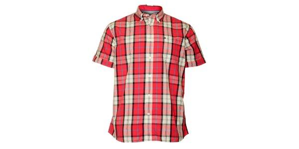 Pánská červená kostkovaná košile TBS