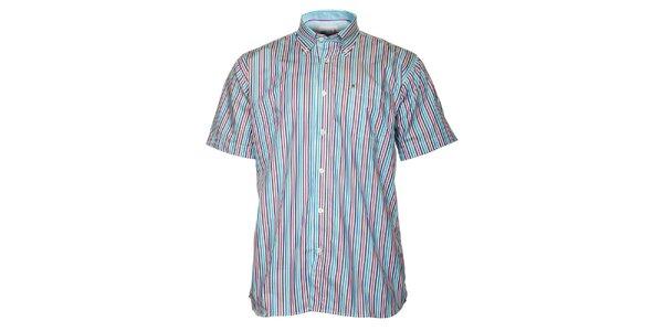 Pánská modro-červená proužkovaná košile TBS
