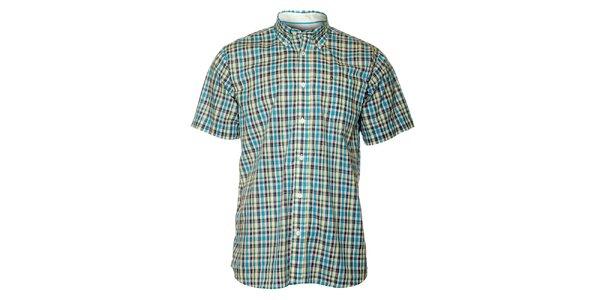 Pánská modrá kostkovaná košile TBS