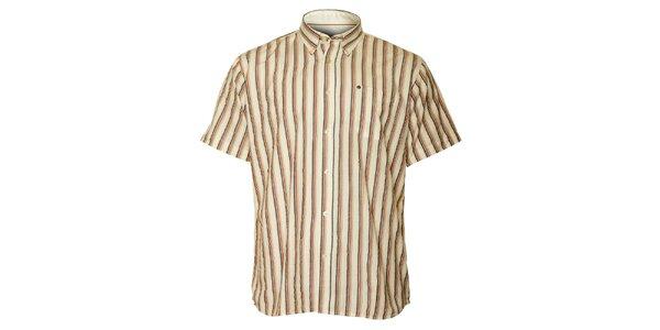 Pánská krémová proužkovaná košile TBS