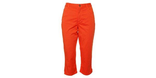 Dámské oranžové capri kalhoty TBS