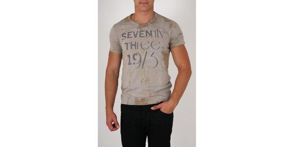 Pánské šedé tričko Pepe Jeans s potiskem