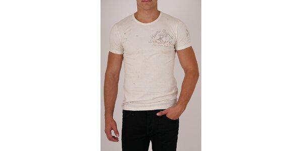 Pánské krémové tričko Pepe Jeans