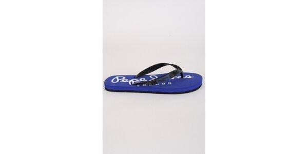 Pánské černo-modré žabky Pepe Jeans