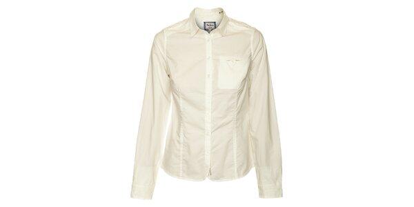 Dámská bílá košile s dlouhým rukávem Pepe Jeans