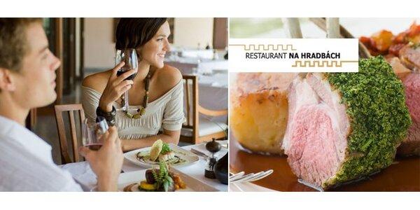 1099 Kč za 4chodové menu pro DVA ve vyhlášené restauraci Na Hradbách v Ostravě