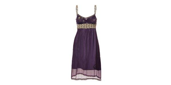 Dámské dvouvrstvé šeříkové šaty Vive Maria