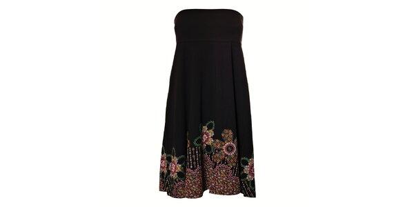 Dámské černé šaty Vive Maria s barevným potiskem