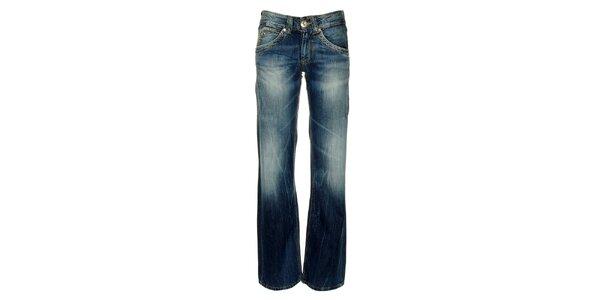 Dámské modré džíny s šisovanými prvky Pepe Jeans